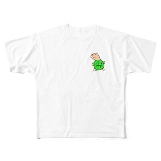 ゼニガメのゼニ Full graphic T-shirts