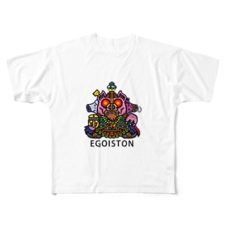 EGOIS-TONのEGOIS-TON Full graphic T-shirts