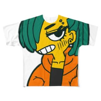 オラつきちゃん Full graphic T-shirts