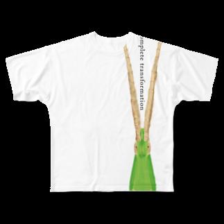 Ojikの不完全変態 Full graphic T-shirts