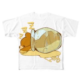 はちみつクマちゃん( 縁なし) Full graphic T-shirts