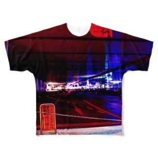 大阪のバスターミナル Full graphic T-shirts