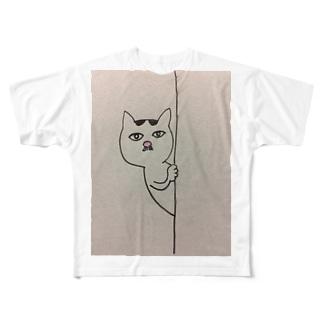 マロはフレディマーキュリー似 Full graphic T-shirts