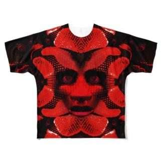 愛蛇 Full graphic T-shirts