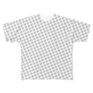 ニンジャ子Tシャツ白 Full graphic T-shirts