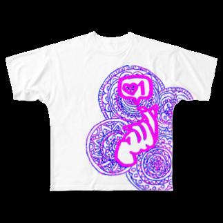 TOP🍌877のらぶ♥かわいみ Full graphic T-shirts