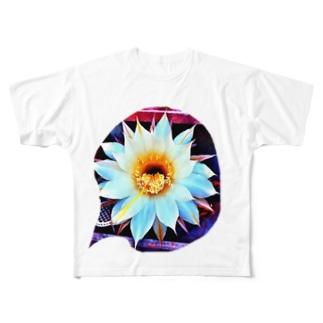 色鉛筆 Life Timeのサボ花 Full graphic T-shirts