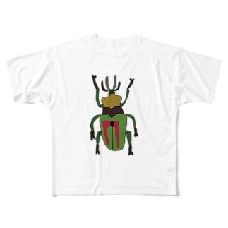 ニジイロクワガタ Full graphic T-shirts