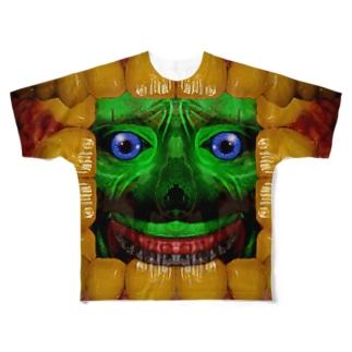 歯茎皺さん Full graphic T-shirts