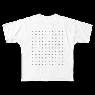 shunshunのCOMPASSION Full graphic T-shirts
