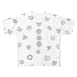 フトマニ (グレー) Full graphic T-shirts