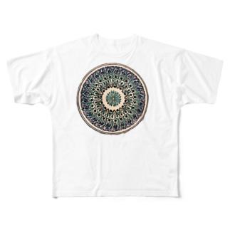 ウズベキスタンの丸模様 Full graphic T-shirts