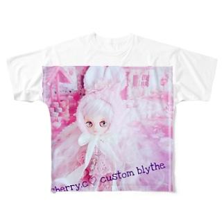 cherryco.custom blythe Full graphic T-shirts
