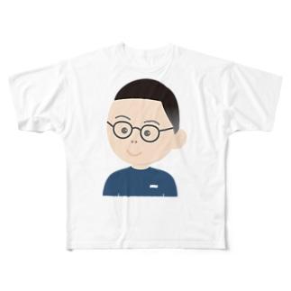 顔イラスト(男) Full graphic T-shirts