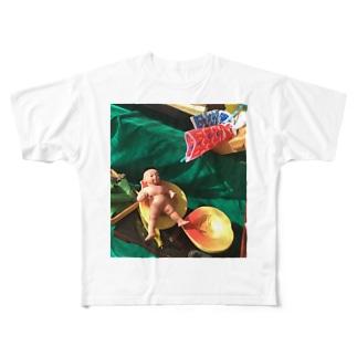 桃から生まれた桃太郎 Full graphic T-shirts