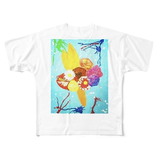 Flowers Full graphic T-shirts
