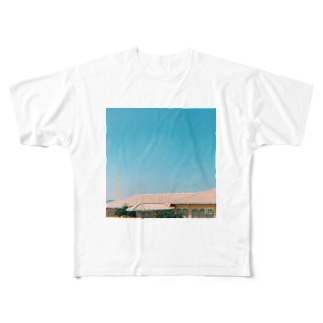 さんかく飛行機雲 Full graphic T-shirts
