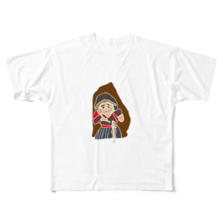 姶良市下名西田の田の神 Full graphic T-shirts