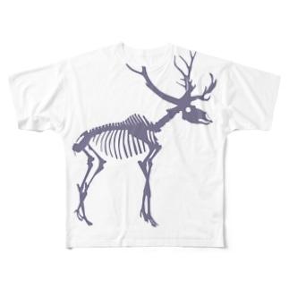 SUKLLシリーズ第2弾(白シカ) Full graphic T-shirts