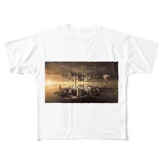 反転した街 Full graphic T-shirts