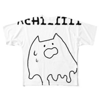 暑がりネッコ Full graphic T-shirts