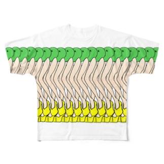 枝豆さん Full graphic T-shirts
