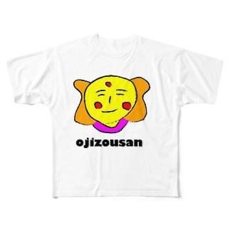 おじぞうさん  デザイン Full graphic T-shirts