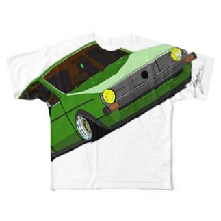 Slammed car② Full graphic T-shirts