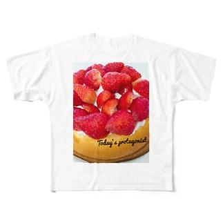 ケーキ Full graphic T-shirts
