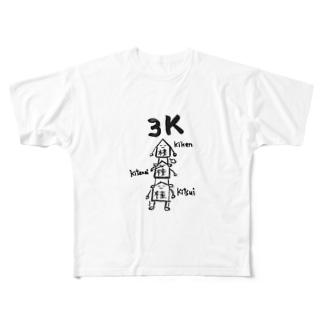 将棋 3K Full graphic T-shirts