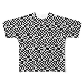 モヨウ 0 「階層」 Full graphic T-shirts