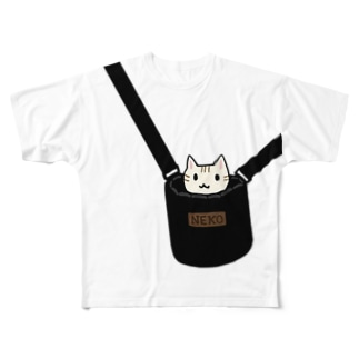 猫専用バッグ Full graphic T-shirts