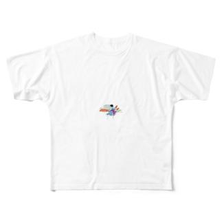 スピノくん Full graphic T-shirts