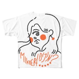 見返り美人? Full graphic T-shirts
