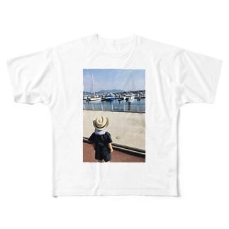 初めての海とヨット Full graphic T-shirts