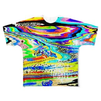 少し派手色フルグラフィックTシャツ Full graphic T-shirts