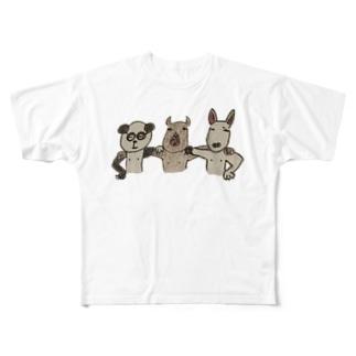 パンカピぶるず Full graphic T-shirts