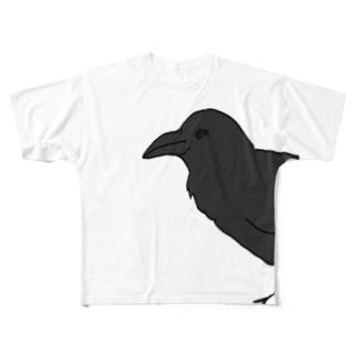 からす Full graphic T-shirts