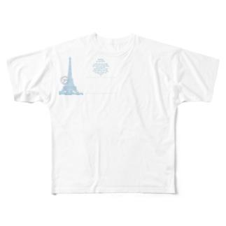 Paris_POSTCARD Full graphic T-shirts