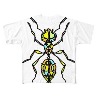 ant☆(あり)カラーバージョン Full of vitality (フル オブ バイタリティ) Full graphic T-shirts