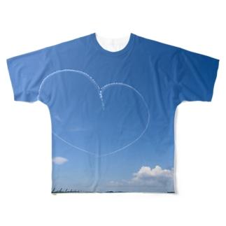 青空ハート Full graphic T-shirts