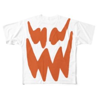 ハロウィンパンプキン Full graphic T-shirts