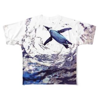 そらとぶペンギン Full graphic T-shirts