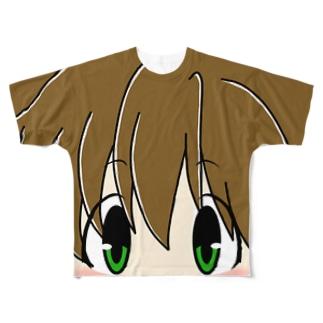 どあっぷ顔2人目 Full graphic T-shirts