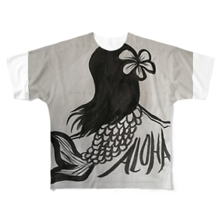 ALOHAちゃん Full graphic T-shirts