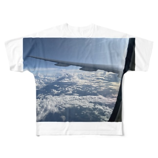 Picture from inside the plane Full graphic T-shirts