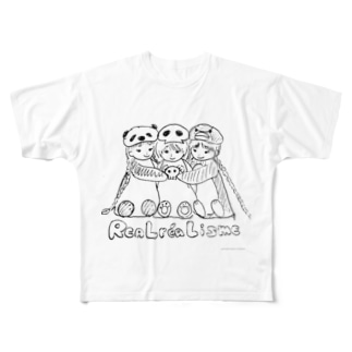 リアルレアリズム宣言 Full graphic T-shirts