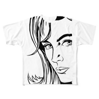 コミックウーマン Full graphic T-shirts