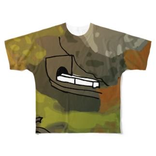 鳴子峡から覗く鉄道 Full graphic T-shirts