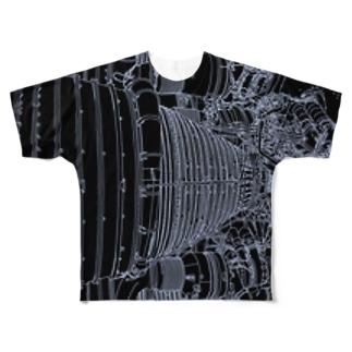 アポロロケットブースター Full graphic T-shirts
